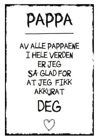 Plakat Alle Pappaer A4