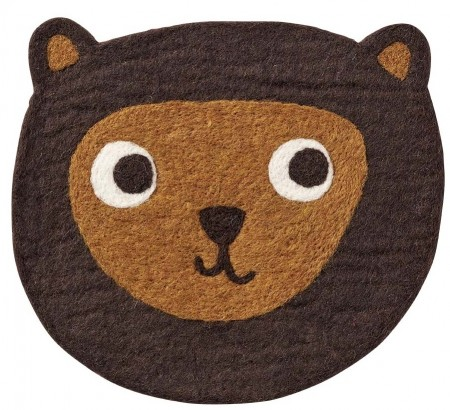 Little Bear Brown Sitteunderlag Ull