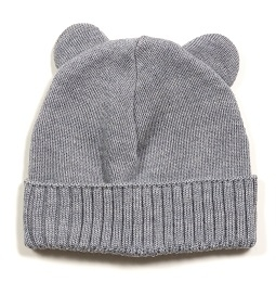Minibear Lue m/knyting Light Grey