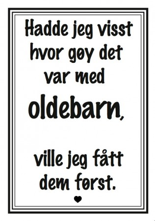 Plakat Oldebarn A4